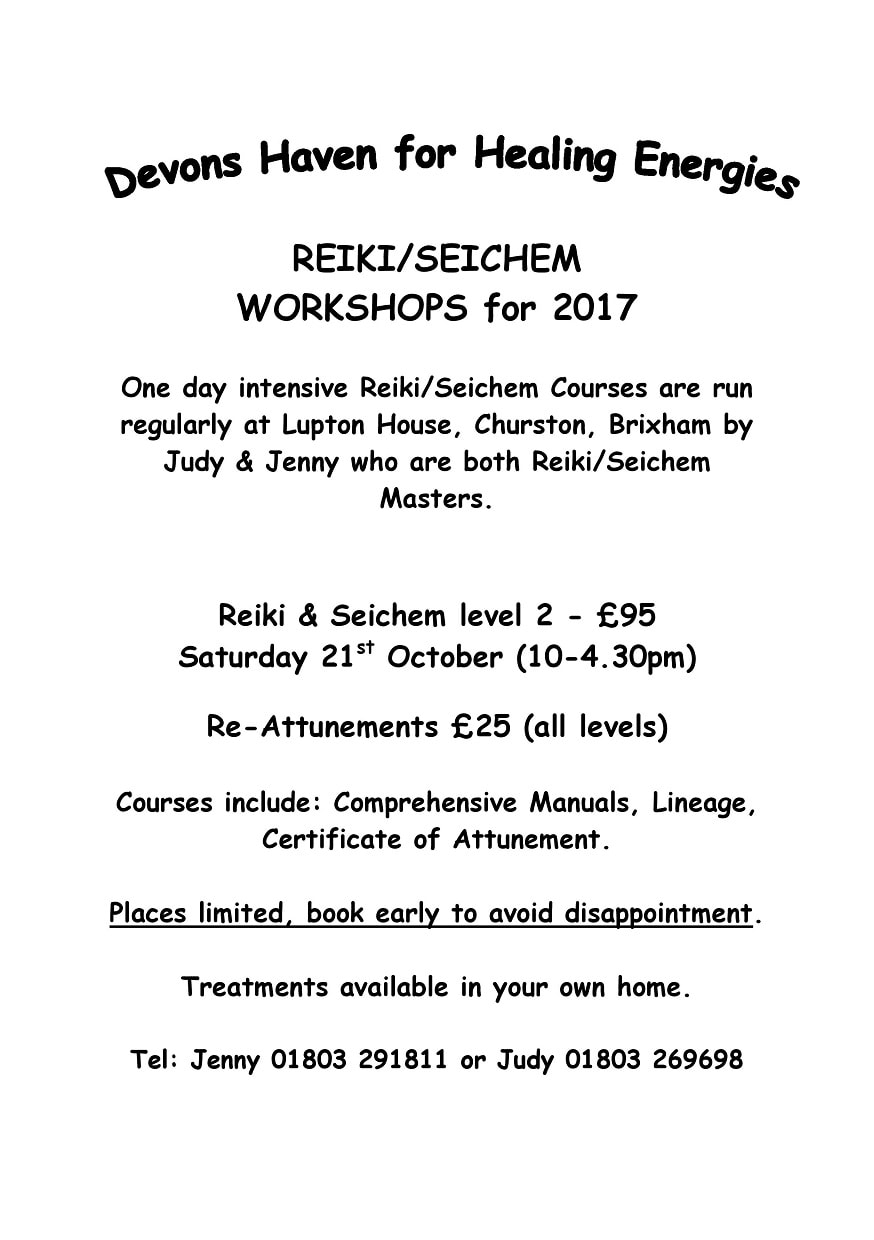 Reiki / Seichem Courses - Event at Lupton House