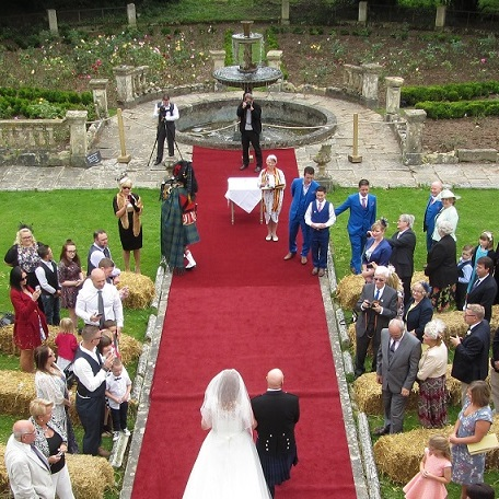 picture of a wedding in the Garden