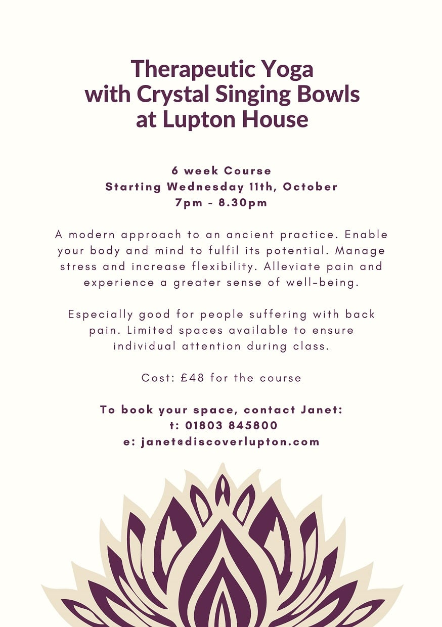 Therapeutic Yoga Course with Crystal Singing Bowls - Event at Lupton House