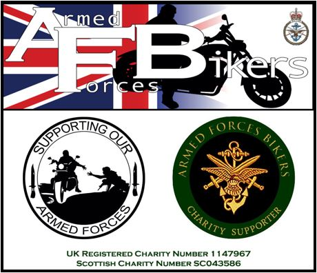 logo of armed forces bikers charity