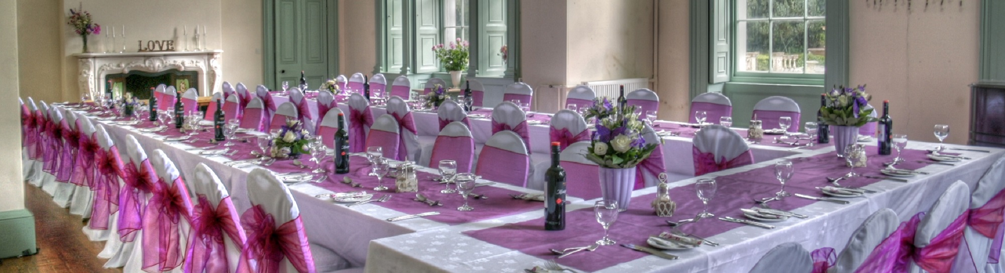 picture of a weddding at Lupton House